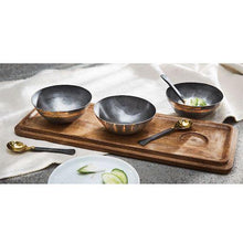 Load image into Gallery viewer, Tin Dip Bowl Serving Board Set