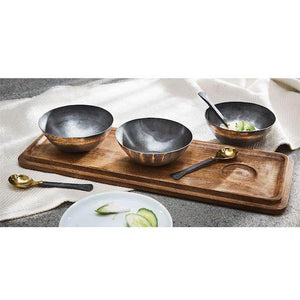 Tin Dip Bowl Serving Board Set