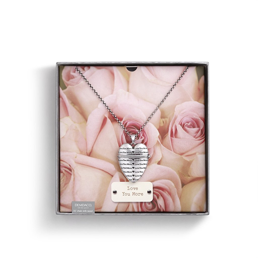 Love You More Story Heart Pendant