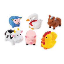 Load image into Gallery viewer, Farm Animal Rubber Bath Toy Set
