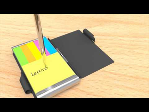 Double Flip Note w/ Sticky Note Insert- Black, Solid