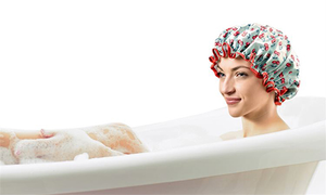 Shower Cap Reusable and Carrying Pouch