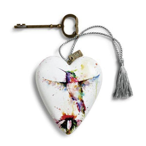 Hummingbird Art Heart