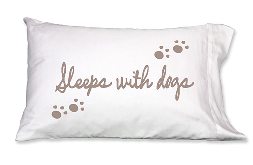 Sleeps with Dogs Pillowcase, Single