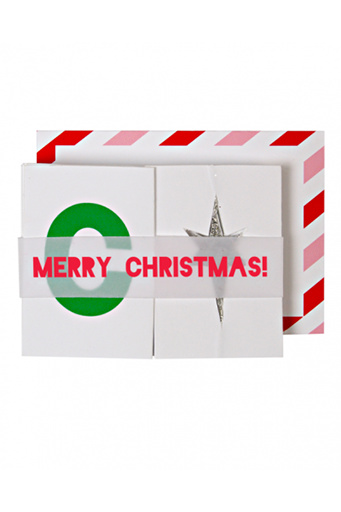 Merry Concertina Enclosure card 6Pk