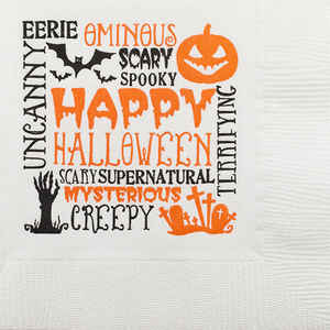Halloween Scattered Text Napkin