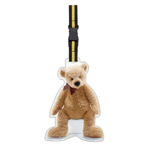 Retro Luggage Tag-Teddy Bear