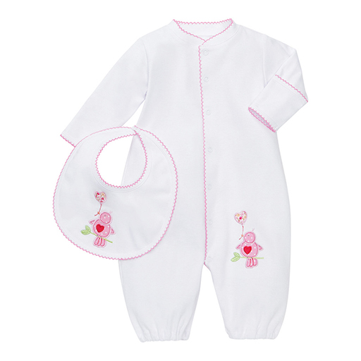 Lovebird Gown and Bib Set