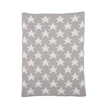 Load image into Gallery viewer, Grey Stars Chenille Blanket