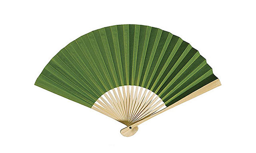 Paper Hand Fan - Grass Green