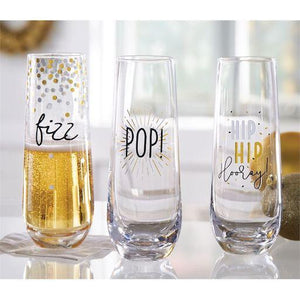 Gold and Silver Champagne Glass