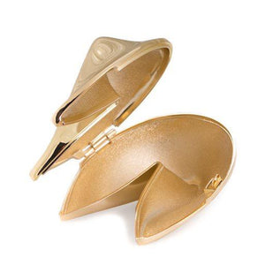 Gold Fortune Cookie Accessory Box