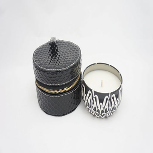 Tin Delicate Gardenia Candle and Snake Skin Travel Purse