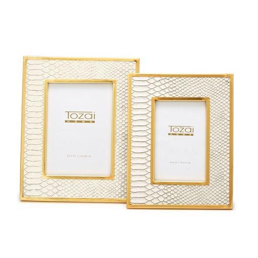 White Python Photo Frame Set of 2