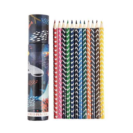 Deep Sea Colored Pencils Pack of 12 in Tube