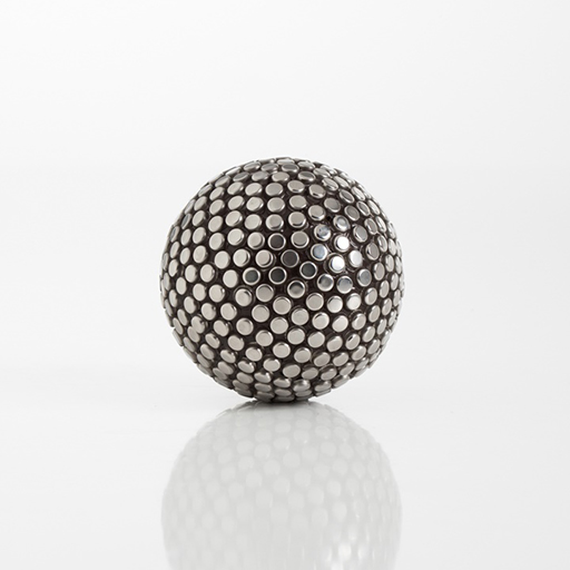 "Silver Studded Decor 3"" Ball"