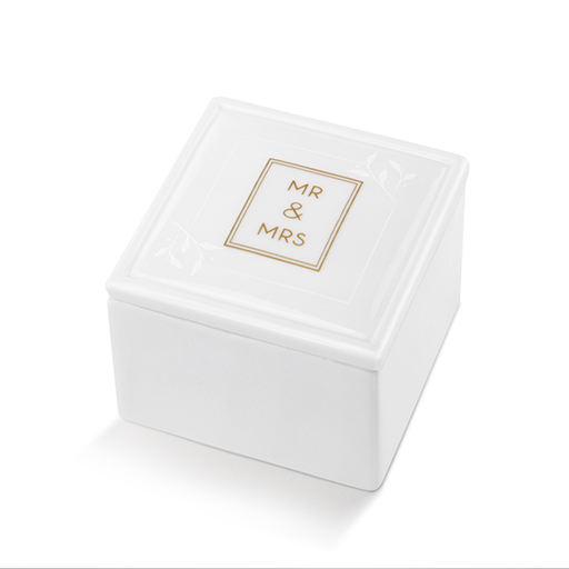 Mr. & Mrs. Ceramic Keepsake Box