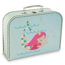 Load image into Gallery viewer, Gold Foil Mermaid Nested Suitcase Set