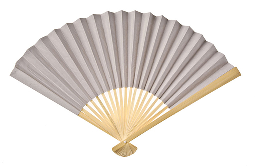 Paper Hand Fan - Feather Grey