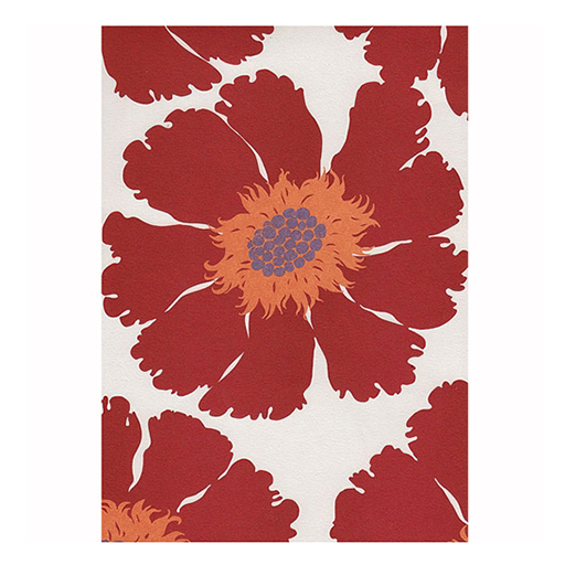 Wild Flower Red Gift Wrap Sheet