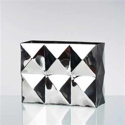 Dimension Stainless Steel Rectangle Vase - Wide
