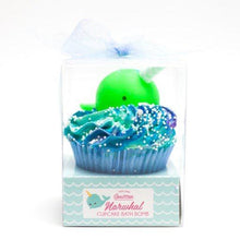 Load image into Gallery viewer, Large Narwhal Cupcake Bath Bomb
