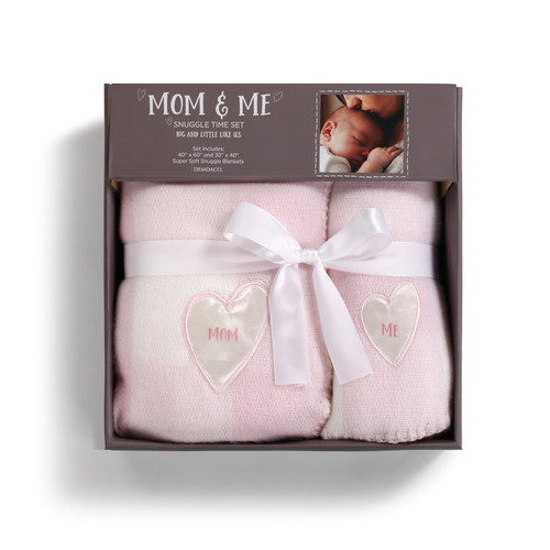 Mom & Me Pink Snuggle Time Blanket Set