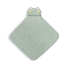Load image into Gallery viewer, Frog Hooded Bath Towel