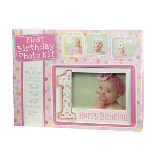 Photo Prop Kit First Birthday Girl