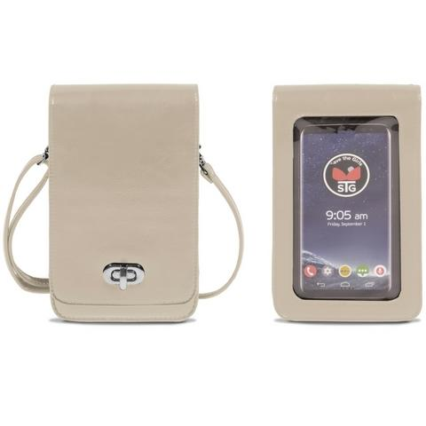 Classic Elegance Leather Touch Screen Cell Phone Purse