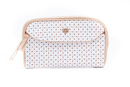 White Dunes Clutch Makeup Case
