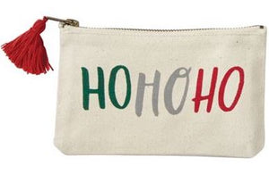 Christmas Sentiment Canvas Pouches
