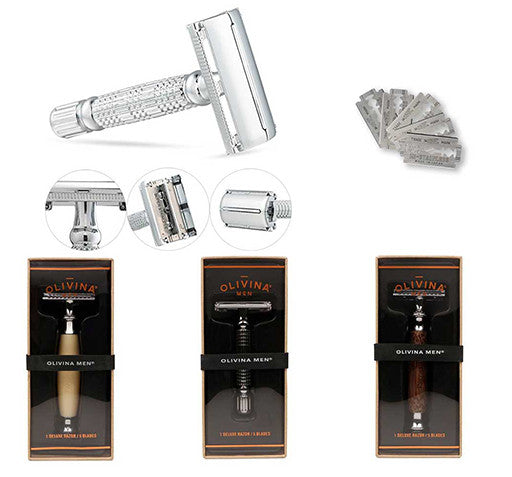 Safety Razor +5 Stainless Steel Blades