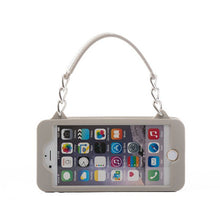 Load image into Gallery viewer, Grey with Silver iPhone 6/6s Pursecase
