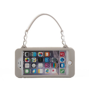 Grey with Silver iPhone 6/6s Pursecase