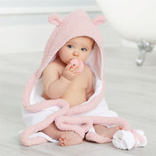 Load image into Gallery viewer, Pink Baby Bath Time Gift Set