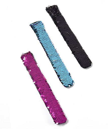 Reverse Sequin Slap Band