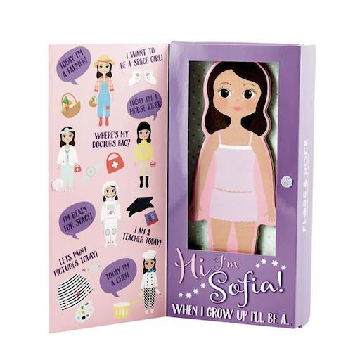 Sophia Magnetic Dress Up Wooden Doll