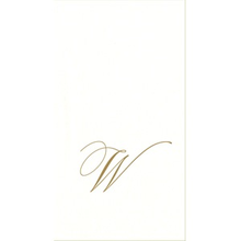 Load image into Gallery viewer, White Pearl Initial Guest Towel