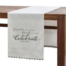 Load image into Gallery viewer, Celebrate Table Runner Dining Room Decor