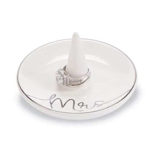 Silver Foil Mrs. Ring Dish