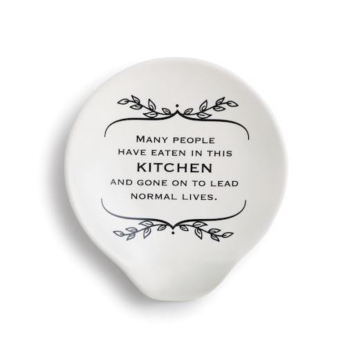 Normal Lives Ceramic Spoon Rest