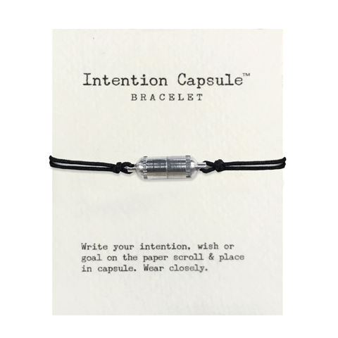 Silver Intention Capsule Bracelet