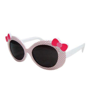 Kids Sunglasses Ribbon White