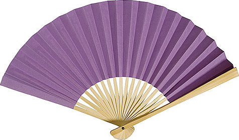 Paper Hand Fan - Purple