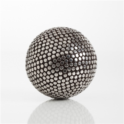 "Silver Studded Decor 4"" Ball Large"