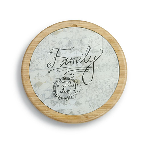 Family Cutting Board and Lazy Susan Set