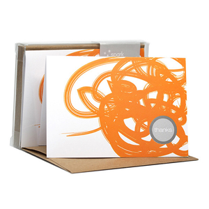 Urban Graffitti Notecard Orange