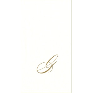 White Pearl Initial Guest Towel