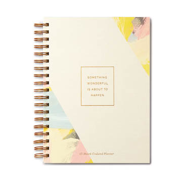 Something Wonderful Is About To Happen 17-Month Undated Planner
